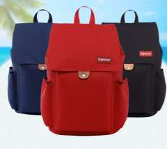 Supreme leisure travel nylon backpack schoolbag