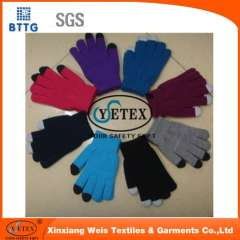 YSETEX Navy blue 100% cotton cheap gloves for welding workers