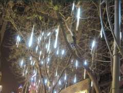 20CM White | LED meteor light string | small meteor shower lights | Mini meteor pipe | decorative lights Christmas holiday | 8 支 * 12 LED