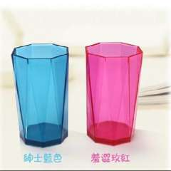 Colorful Diamond Cup / transparent glass / wash cup