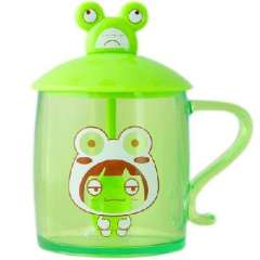 Ai can think of Tao Tao Cup Spoon Set - green frog Tao Tao