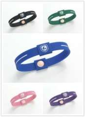 2012 Lidun lady fashion silicone negative ion energy bracelets
