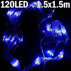 1.5 * 1.5 m | 120 lights | 120LED Lights | 8 modes | EURO | Blue | led light string | Decorative lights | Holiday Christmas lights | net lights