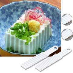 Japanese home SANADA wavy tofu knife