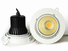 40W 4-way rotatable COB Downlight