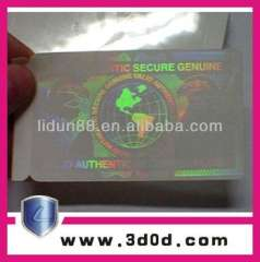 Anti-fake Custom Transparent Overlay hologram for ID card