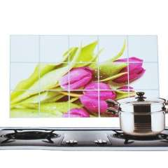 Kitchen with aluminum foil high-temperature oil sticker - petal - blooming flowers