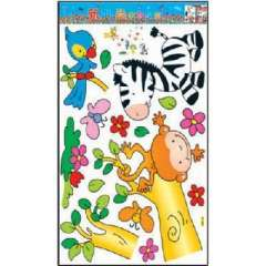 Lido large home fashion wall stickers - Animal Paradise (HL5831)