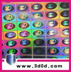customized roundness logo 2d\3d hologram sticker\anti-fake labels