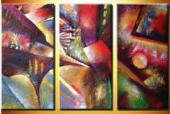 Fashion hand abstract oil painting frame OIL0120