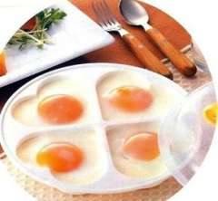 Heart-shaped microwave Egg tray | White