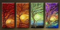 Fashion handmade abstract oil painting frameless OIL0072