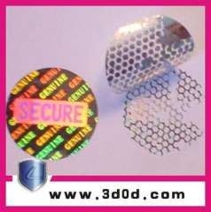 2013 LiDun Hologram printing laser anti-counterfeiting stickers in 2d\3d