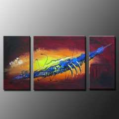 Fashion handmade abstract oil painting frameless OIL0048