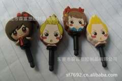 Dongguan Mobile dust plug | doll dust plug | PVC dust plugs | Gifts dust plug customize