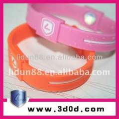 2012 Korea Hot Sale Silicone Powerful Energy Bracelet with High Ion Holograms