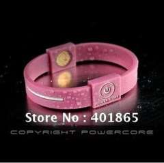 Promotional silicone energy powercore wristbands