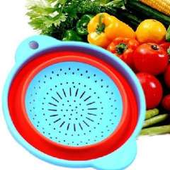 Round ears folded clean basket of fruits and vegetables ( 803 )