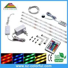 led strip high light led RGB strip with CE RoHS rgb controller with remote