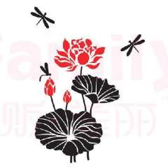Home Art stickers / wall stickers - Lotus