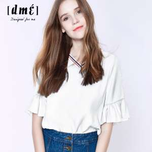 Zi Yi Xiu short-sleeved t-shirt female Korean Fan loose round neck T-shirt 2016 summer new solid color linen summer wild