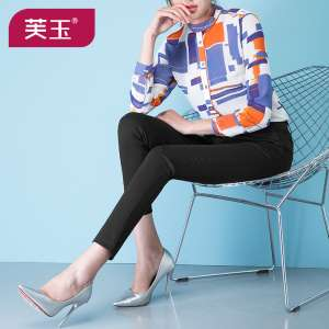 Girls pants Girls pants children girls Dongkuan big virgin cotton casual pants trousers pants female children