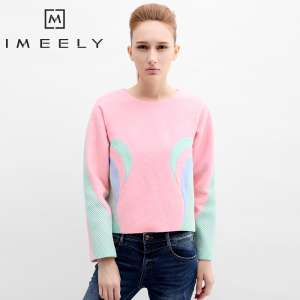2016 autumn and winter women 's Korean version of the long sweater women' s Slim V - neck sweater sweater women 's headset bottoming shirt wave