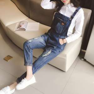 Qi meters Autumn 2016 new Korean version was thin Slim casual pants feet pants harem pants female fashion Autumn College