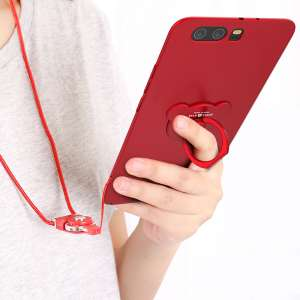 Chi circles | p10 Huawei phone shell protective sleeve female models p10plus all-inclusive popular brands lanyard thin crust New