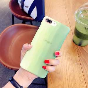 Simple green scrub iPhone7 phone shell Apple 7splus protective cover 7plus half pack i6 shell drop