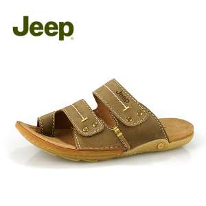 Jeep Jeep counter men 's shoes | summer leather men' s slippers breathable casual sandals JH028