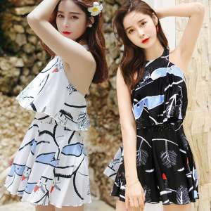 Swimsuit female conservative cover belly thin body Korean students hot spring fat mm large size swimsuit sexy small fresh couple