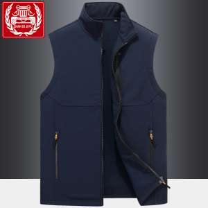 Battlefield Jeep Men's Vest Autumn and Winter loose large size sleeveless coat stand collar thick vest outdoor fleece waistcoat