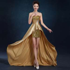 Banquet evening dress 2017 spring and summer new section of the annual meeting of the host to worry about the wedding dress bride wedding dress
