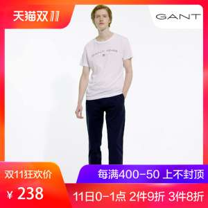 Gant / Gante | Early spring male round collar cotton letter short sleeve T shirt Indian imports 234106