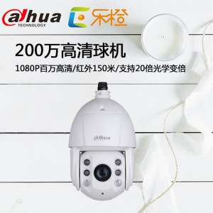 Dahua new infrared network ball machine 2 million high-definition intelligent monitoring dome machine DH-SD6C82E-GN
