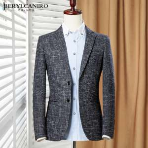 Autumn and winter youth fashion woolen suit suits new Korean version of Slim business small suit men's jacket tide