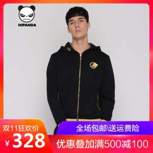 HIPANDA Hello Panda | New | Design tide brand | men and women with the section | black gold series | hood | sweater