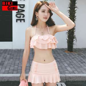 Swimsuits Women's Three-piece Bikini South Korea Hot Springs Little Fragrance Corsional Clothes