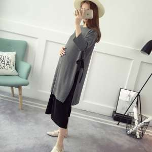 Maternity suit suit summer 2017 new fashion models spring coat wide leg pants loose two sets of tide mother Korean version