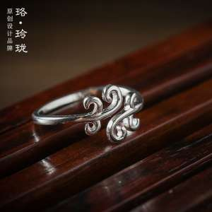 Luo Linglong 925 Sterling Silver Retro Soul Ring Rendezvous Women's Fashionable Fashion Ringtone Valentine's Day Valentine's Day Gift