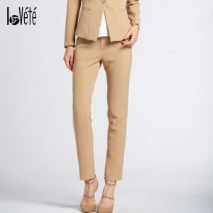 Lovete Fall New Slim Professional Trousers Women's Straight Pants Trousers Slim Slim Set