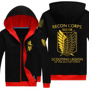 Autumn and winter men and women models thicker jacket gold foil large card cardigan zipper hooded clothing cartoon
