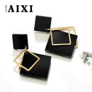 Europe and the United States fashion personality simple earrings female long earrings Korean creative pendant geometric earrings temperament earrings