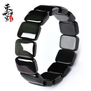 East Sea family obsidian hand row female male | obsidian bracelet lap | crystal fashion jewelry couple gift
