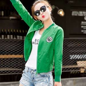 2017 spring women short jacket new printing baseball clothing female autumn Korean casual long-sleeved sweater fashion jacket
