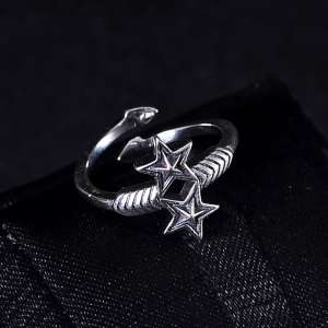 Cody sanderson star ring star jewelry with the trend of five-star opening small finger ring ring