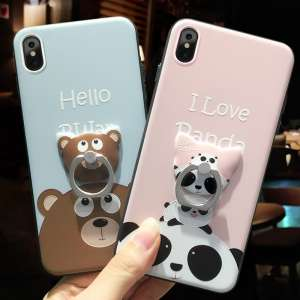 Apple X mobile phone shell new cartoon couple silicone iphoneX protective sleeve female models 10 drop tide brand personality male