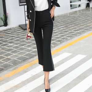 2017 spring and autumn new high waist micro bell pants pants Slim nine pants fish tail pants casual pants female