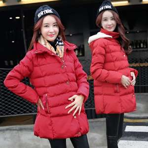 Maternity winter coat cotton coat jacket jacket large size down jacket in the long section of Korean loose winter female